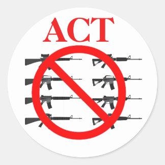 Adesivo Redondo Ato no controlo de armas