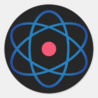 Adesivo Redondo Átomo simples de Emoji