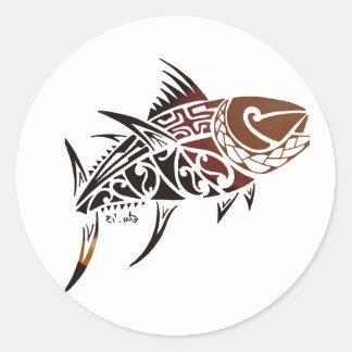 Adesivo Redondo Atum