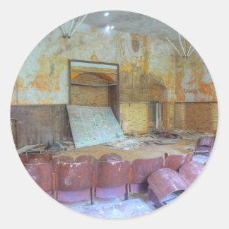 Adesivo Redondo Auditório 01,0, lugares perdidos, Beelitz