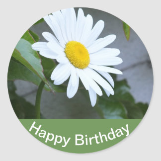 "Adesivo Redondo Autocolante aniversário ""Happy Birthday """