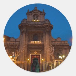Adesivo Redondo Ave Maria Church em Catania