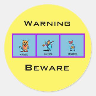 Adesivo Redondo Aviso-beware