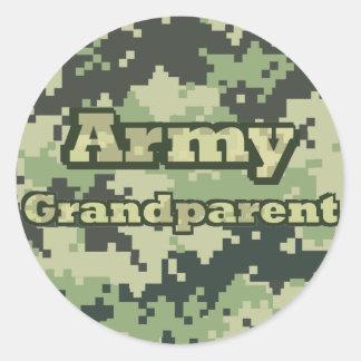 Adesivo Redondo Avó do exército