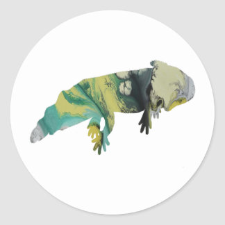 Adesivo Redondo Axolotl