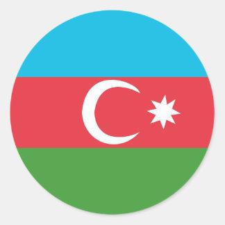 Adesivo Redondo Azerbaijao