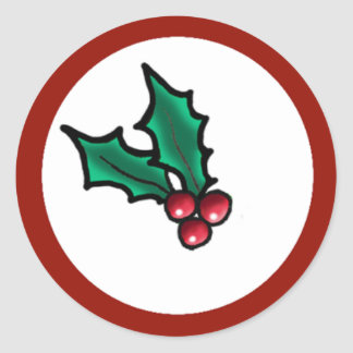 Adesivo Redondo Azevinho do Natal de KiniArt