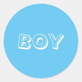Adesivo Redondo Azuis bebés do menino