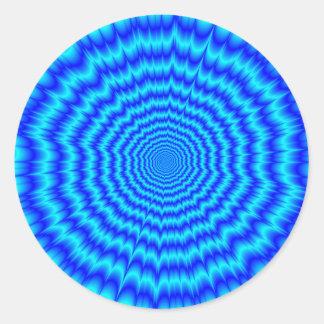 Adesivo Redondo Azuis de Big Bang