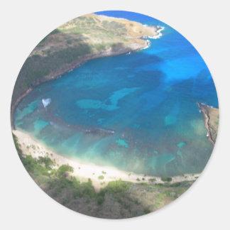 Adesivo Redondo Baía Havaí de Hanauma