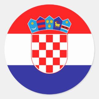 Adesivo Redondo Baixo custo! Bandeira croata