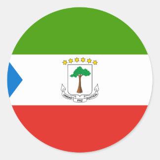 Adesivo Redondo Baixo custo! Bandeira da Guiné Equatorial