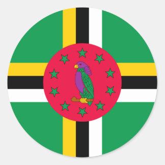 Adesivo Redondo Baixo custo! Bandeira de Dominica