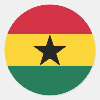 Adesivo Redondo Baixo custo! Bandeira de Ghana