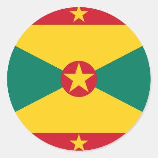 Adesivo Redondo Baixo custo! Bandeira de Grenada