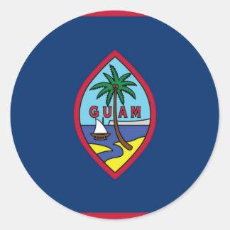 Adesivo Redondo Baixo custo! Bandeira de Guam
