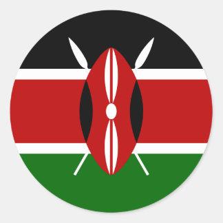 Adesivo Redondo Baixo custo! Bandeira de Kenya