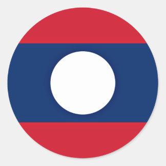Adesivo Redondo Baixo custo! Bandeira de Laos