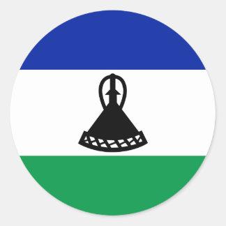 Adesivo Redondo Baixo custo! Bandeira de Lesotho