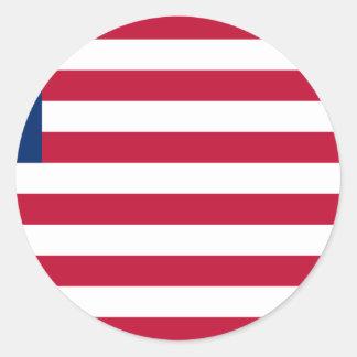 Adesivo Redondo Baixo custo! Bandeira de Liberia