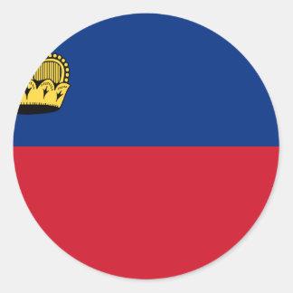 Adesivo Redondo Baixo custo! Bandeira de Liechtenstein