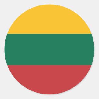 Adesivo Redondo Baixo custo! Bandeira de Lithuania