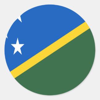 Adesivo Redondo Baixo custo! Bandeira de Solomon Island