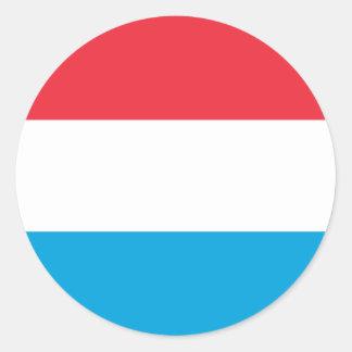 Adesivo Redondo Baixo custo! Luxembourg embandeira