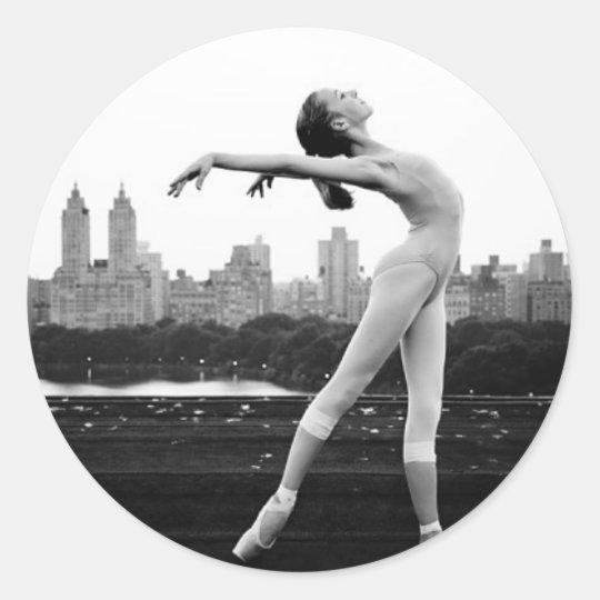 Adesivo Redondo ballet