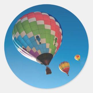 Adesivo Redondo Balões de ar quente