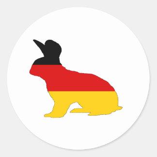 Adesivo Redondo Bandeira alemão - coelho