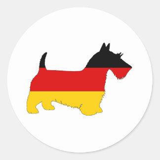 Adesivo Redondo Bandeira alemão - terrier escocês