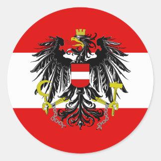 Adesivo Redondo Bandeira austríaca
