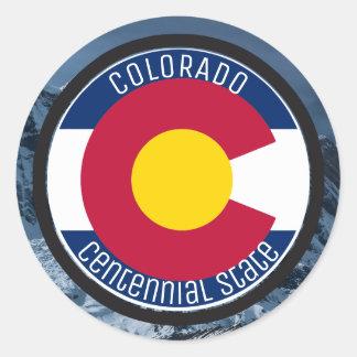 Adesivo Redondo Bandeira da circular de Colorado