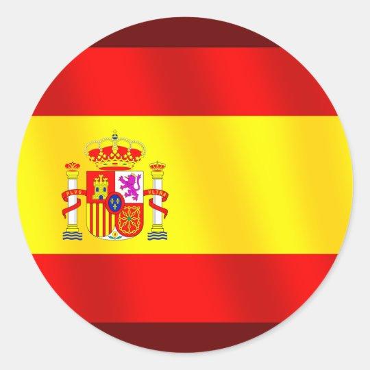 Adesivo Redondo Bandeira da espanha para espanhóis no mundo ...