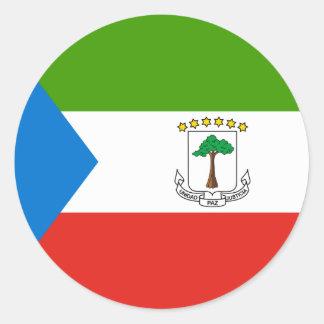 Adesivo Redondo Bandeira da Guiné Equatorial