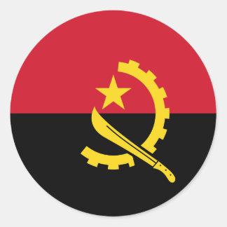 Adesivo Redondo Bandeira de Angola - Bandeira de Angola