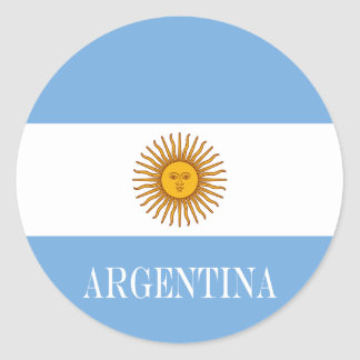Adesivo Redondo Bandeira de Argentina