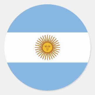 Adesivo Redondo Bandeira de Argentina - bandera de Argentina