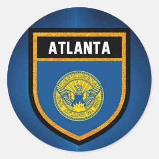 Adesivo Redondo Bandeira de Atlanta