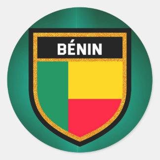 Adesivo Redondo Bandeira de Bénin