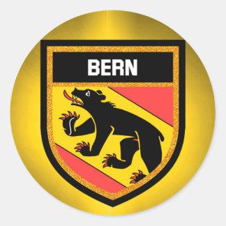 Adesivo Redondo Bandeira de Berna