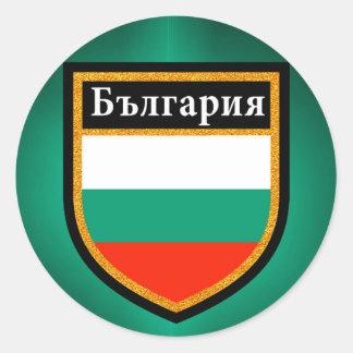 Adesivo Redondo Bandeira de Bulgária