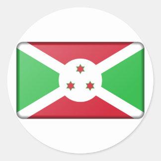 Adesivo Redondo Bandeira de Burundi