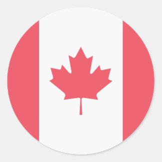 Adesivo Redondo Bandeira de Canadá