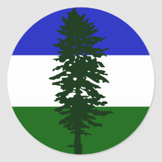 Adesivo Redondo Bandeira de Cascadia