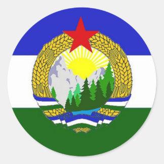 Adesivo Redondo Bandeira de Cascadia socialista