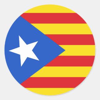 Adesivo Redondo Bandeira de Catalonia