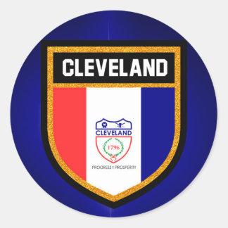 Adesivo Redondo Bandeira de Cleveland