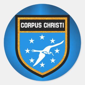 Adesivo Redondo Bandeira de Corpus Christi